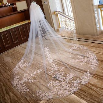 Pink Cathedral Bridal veil