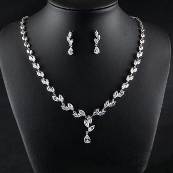 Crystal Bridal Wedding Prom Jewelry Set