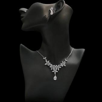 Charming Cubic Zirconia Bridal Jewelry Set