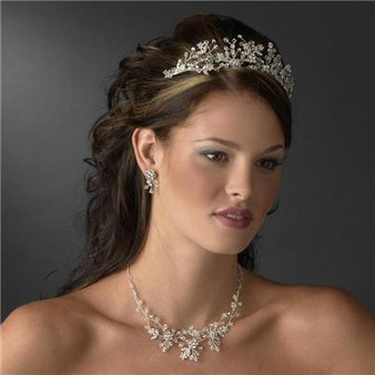 Couture Crystal Bridal Wedding Necklace, Earrings & Tiara A9785-4706