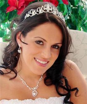Couture Swarovski Crystal Bridal Wedding Jewelry Set & Tiara A8265-8265