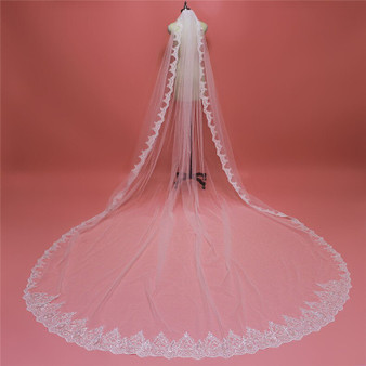extra long cathedral wedding veil
