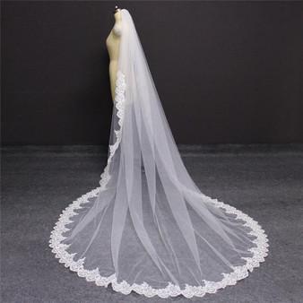 long train veil
