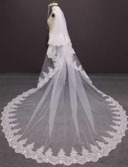 lace cathedral veil long
