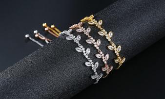 cubic zirconia bracelet in silver, gold, rose gold