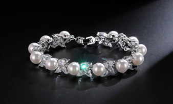 Crystal Wedding and Formal Bracelet