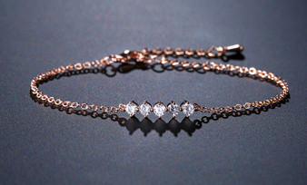 rose gold bridesmaid bracelet