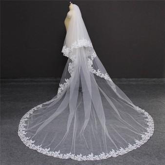 Long wedding veil
