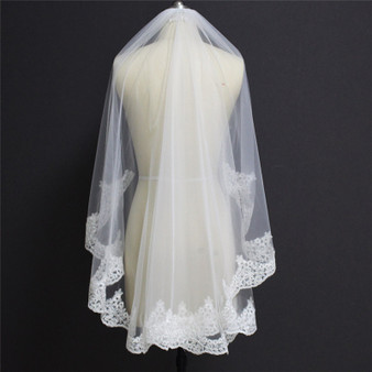 1 layer wedding veil