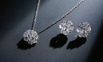 CZ Crystal Bridesmaid Jewelry Set Silver, Gold, Rose Gold