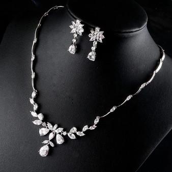 Sparkling CZ Wedding Jewelry Set