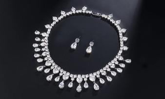 CZ Crystal Wedding Jewelry Set