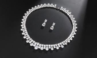 Cubic Zirconia Bridal Jewelry Set