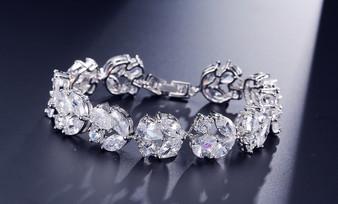 affordable cz bridal bracelet
