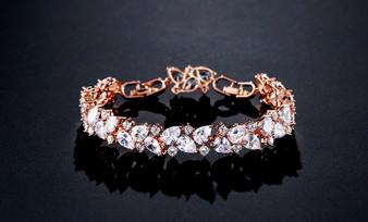 Cubic Zirconia Bridal Bracelet