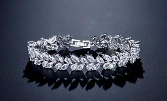 CZ Cubic Zirconia Bridal Bracelet