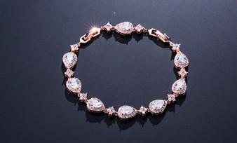 CZ Rose Gold Bridal or Bridesmaid Bracelet