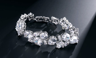 Exquisite Cubic Zirconium Bridal Bracelet
