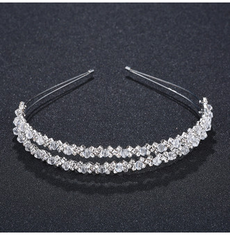 Elegant Crystal Rhinestones Wedding Headband Tiara