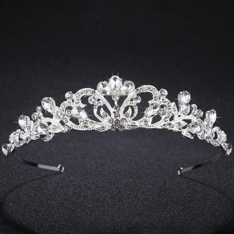 Beautiful Silver Rhinestone Wedding & Quinceanera Tiara