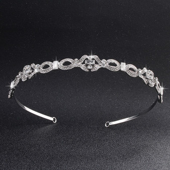 Elegant Rhinestone Silver Plated Bridal Tiara Headband