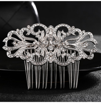Vintage Inspired Rhinestone Wedding  Hair Comb