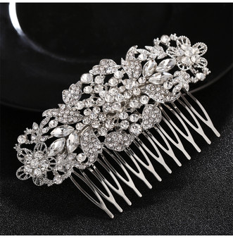 Vintage Inspired Rhinestone Wedding Hair Comb