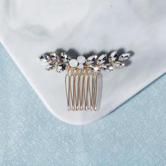 Chic Opal Crystal Wedding Hair Comb