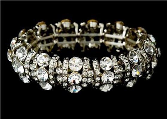 Swarovski Crystal Fashion Wedding Bridal Prom Bracelet WB8181