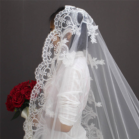 mantilla veil cathedral length