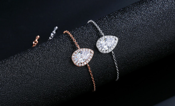 Silver or Rose Gold Bridesmaid bracelet