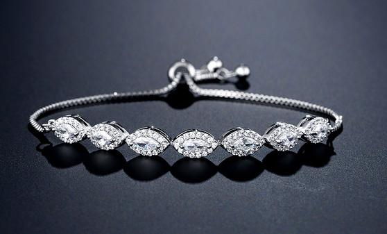 silver bridesmaid bracelet