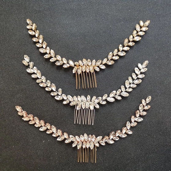 Vine Wedding Hair Comb Silver, Gold, Rose Gold