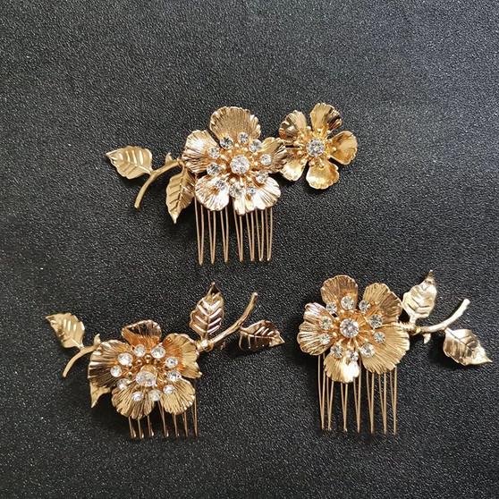 Flower Wedding Hair Combs 3 Piece Set