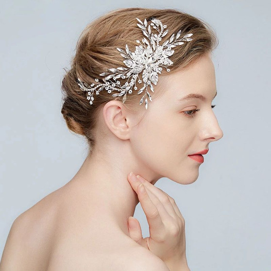 Designer Floral Bridal Vine Headpiece Hair Vine