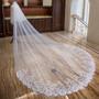 white cathedral wedding veil