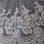 floral lace on veil