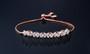 affordable rose gold bridesmaid bracelet