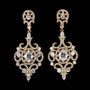 gold bridal earrings with crystals