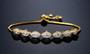 gold bridesmaid bracelet