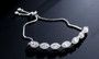 bridal cubic zirconia bracelet