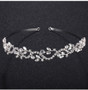 Rhinestone Floral Vine Bridal Tiara Headband