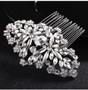 Silver Vintage Look Rhinestone Wedding Hair Comb