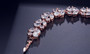 affordable rose gold bridesmaid bracelet with cz crystals