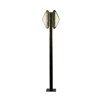 Al Masah Crystal Black Gold Garden Post Bollard Light - OUT00008