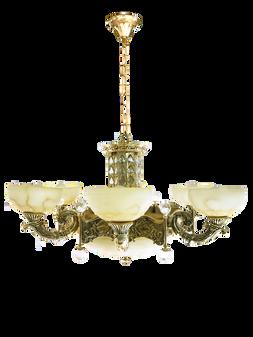 Al Masah Crystal Chandelier - CHA00686 - ST-1221 D/6L GOLD+BLK