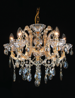 Al Masah Crystal Beaming Gold Candlelit Chandelier - CHA00814
