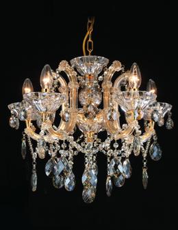 Al Masah Crystal Beaming Gold Candlelit Chandelier - CHA00814