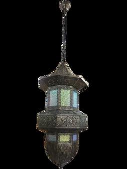 Al Masah Crystal Pendant Light - PEN00210 - GD1081/8 Antique brass