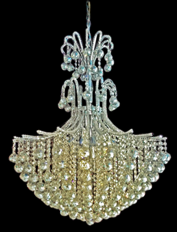 2198-18 Light Crystal Chrome Champagne Chandelier